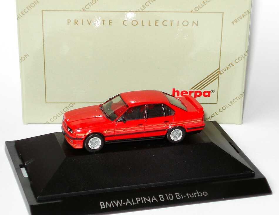 Foto 1:87 Alpina B10 BiTurbo (E34) rot herpa 20065
