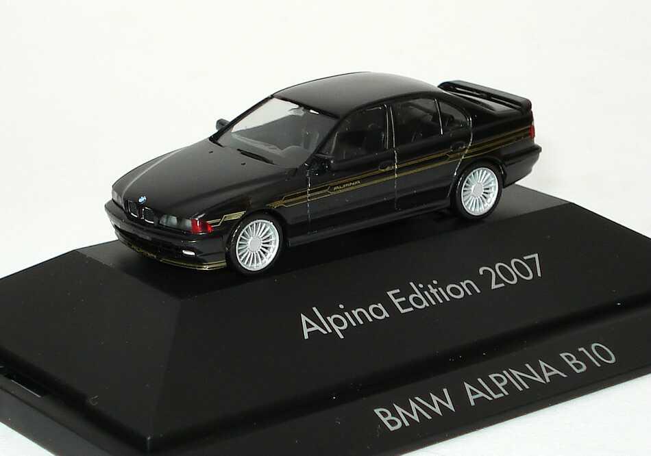 Foto 1:87 Alpina B10 V8 (E39) schwarz Alpina Edition 2007 herpa 101783