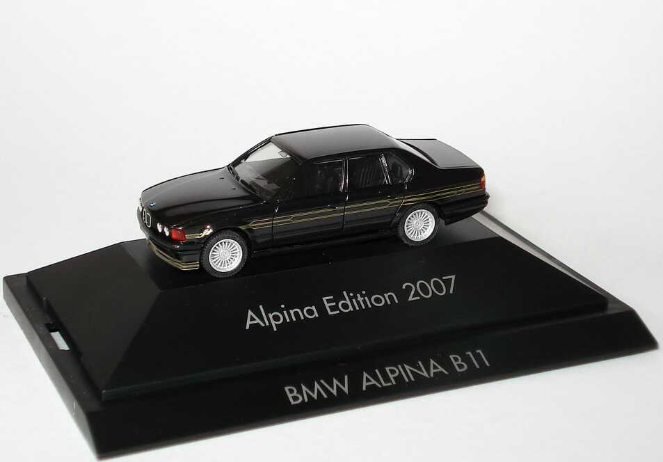 Foto 1:87 Alpina B11 3,5 (E32) schwarz Alpina Edition 2007 herpa 101752