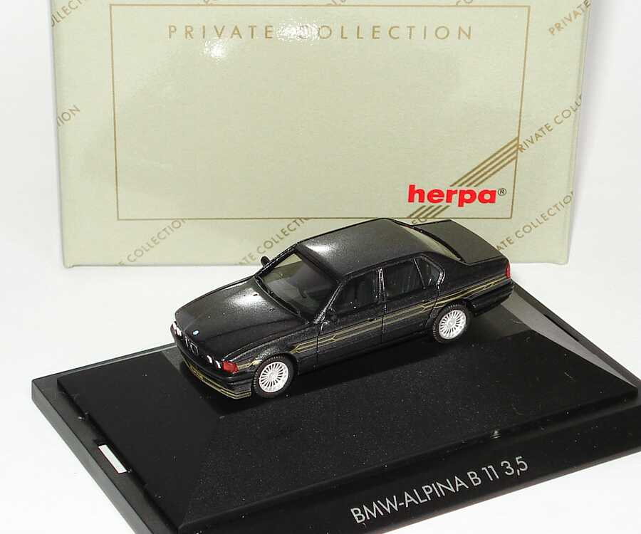 Foto 1:87 Alpina B11 3,5 - Basis BMW 7er E32 - schwarz-met. - herpa 31043