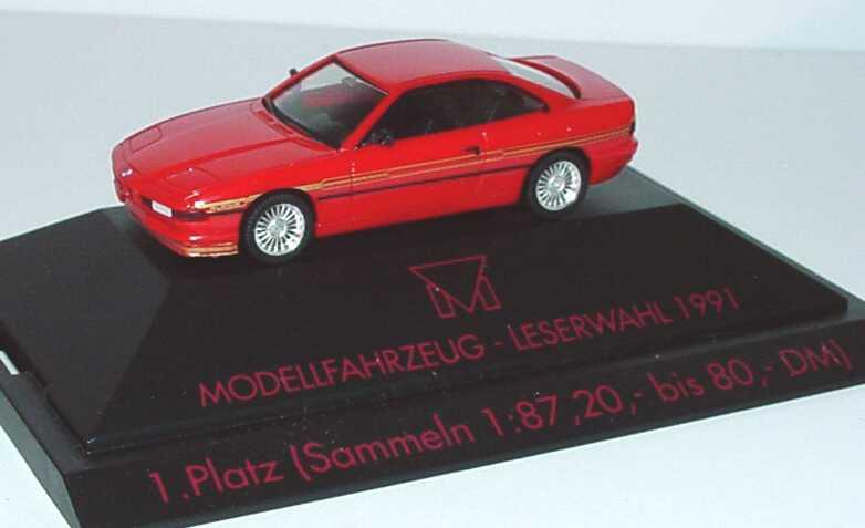 Foto 1:87 Alpina B12 5,0 Coupé (E31) rot 1. Platz Modellfahrzeug Leserwahl 1991 herpa