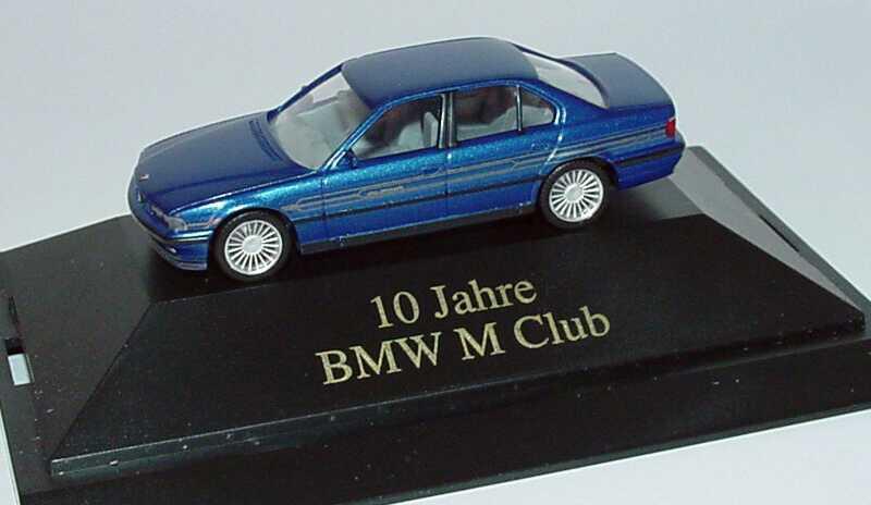 Foto 1:87 Alpina B12 5,7 (E38) estorilblau-met. 10 Jahre BMW M Club herpa