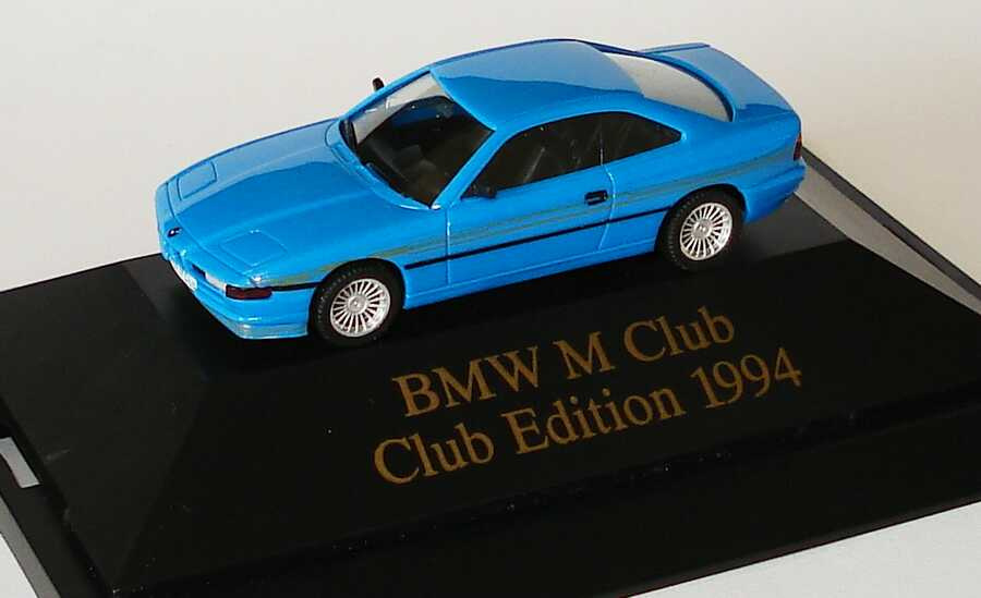 Foto 1:87 Alpina B12 6,0 Coupé (E31) rivierablau BMW M Club, Club Edition 1994 herpa