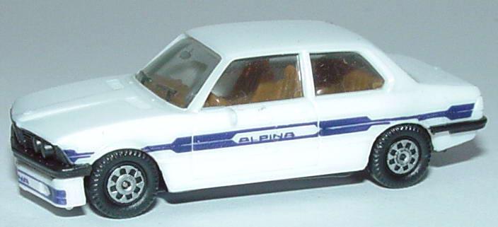 Foto 1:87 Alpina B6 2,8 (E21) weiß/blau herpa 3506