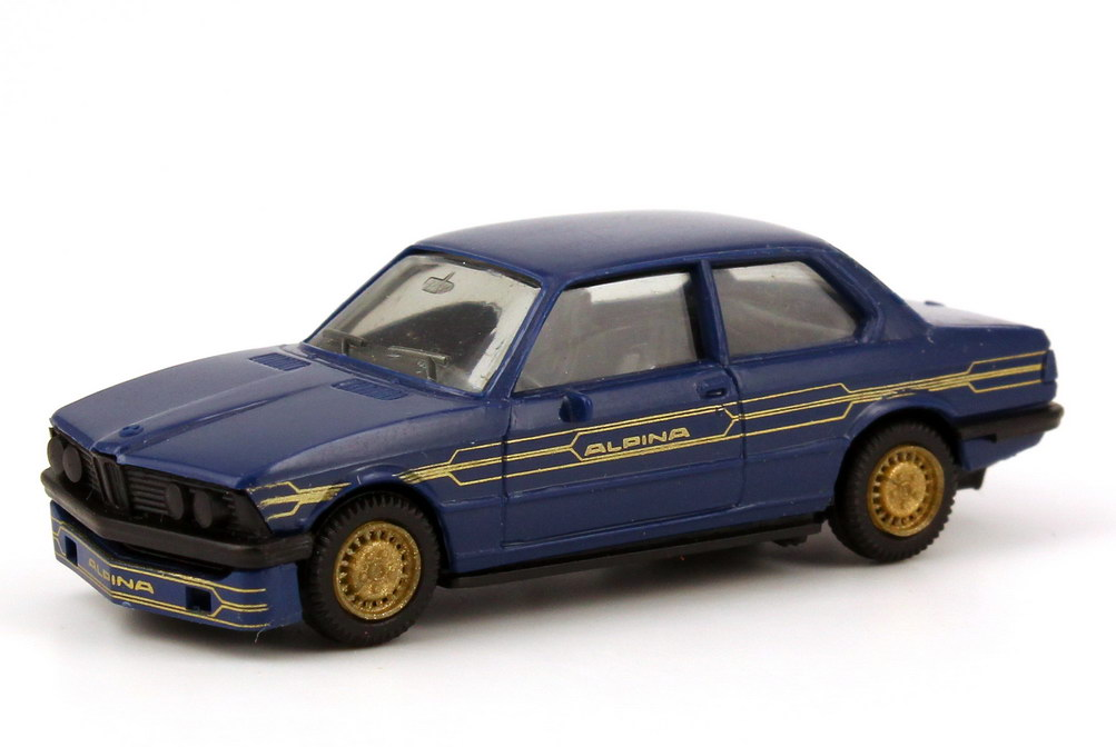 Foto 1:87 Alpina B6 2,8 Basis BMW 3er E21 blau gold - herpa 3506