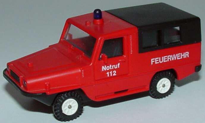 Foto 1:87 Amphi Ranger Feuerwehr rot Rietze