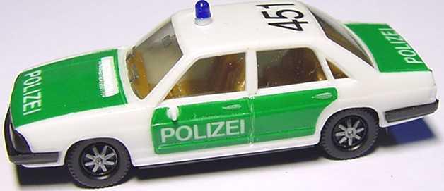 Foto 1:87 Audi 100 GL 5E Polizei 451 (IA beige) herpa