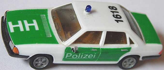 Foto 1:87 Audi 100 GL 5E Polizei HH, 1618 (bemalt) herpa