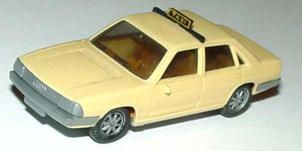 Foto 1:87 Audi 100 GL 5E Taxi elfenbein (Boden grau, IA beige) herpa
