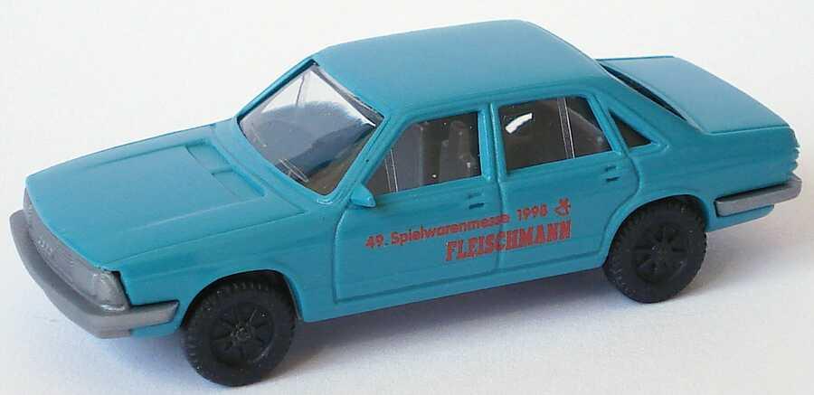 Foto 1:87 Audi 100 GL 5E blautürkis Spielwarenmesse 1998 Fleischmann