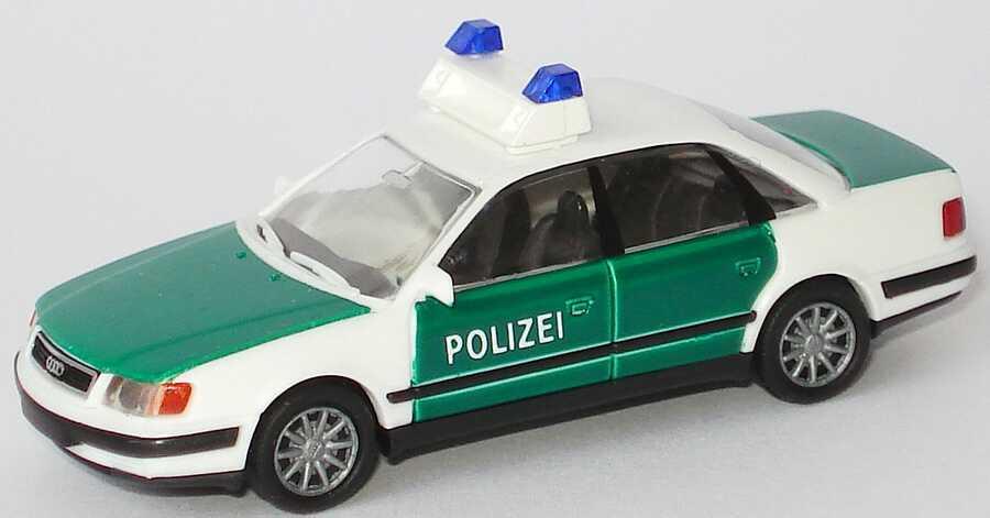 Foto 1:87 Audi 100 (C4) Polizei grün/weiß (Speichenfelgen) Rietze 50423