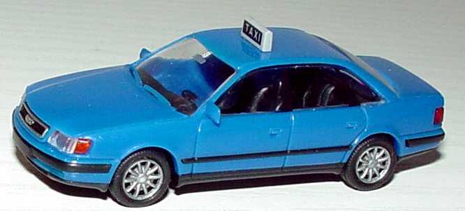 Foto 1:87 Audi 100 (C4) Taxi (Italien) blau Rietze 30422