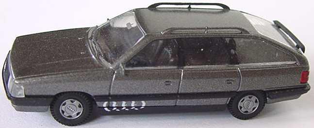 Foto 1:87 Audi 200 Avant grau-met. mit Audi-Ringen bedruckt Rietze