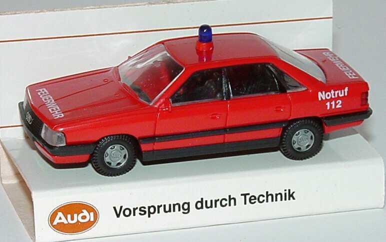 Foto 1:87 Audi 200 Feuerwehr rot Werbemodell Rietze