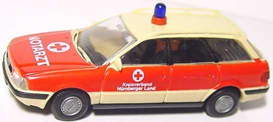 Foto 1:87 Audi 80 Avant Notarzt Kv. Nürnberger Land Rietze 50500