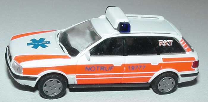 Foto 1:87 Audi 80 Avant Notarzt RKT, Notruf 19777 Rietze 50502