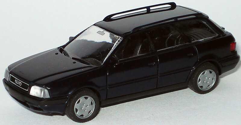 Foto 1:87 Audi 80 Avant dunkelblau Rietze 10500