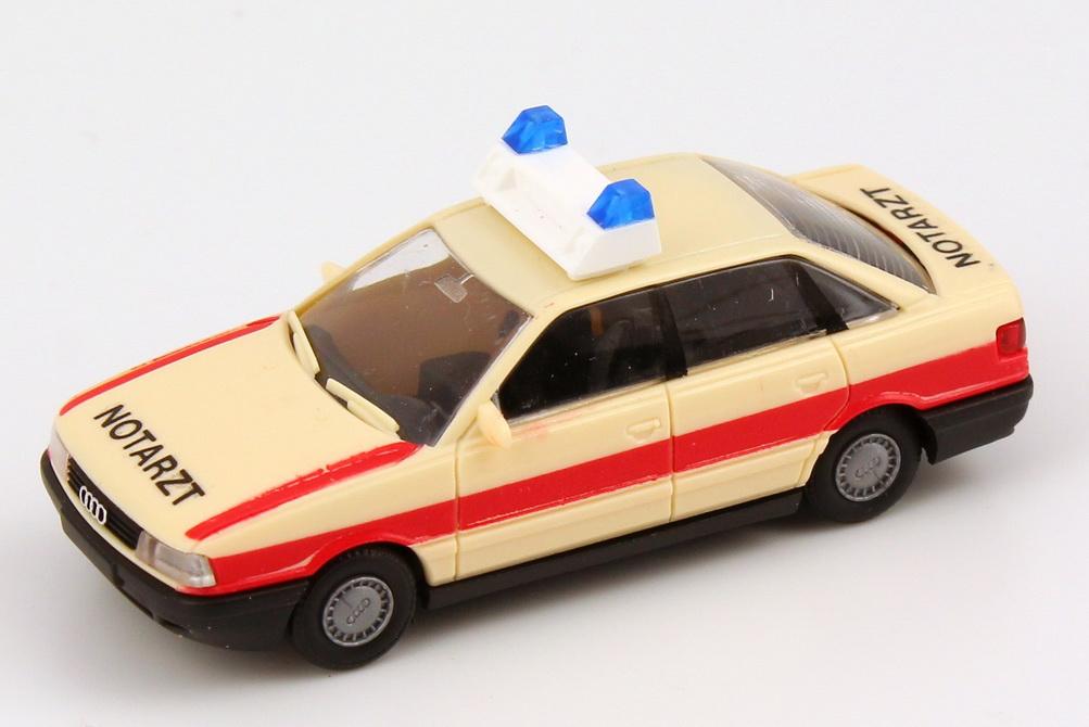Foto 1:87 Audi 80 (B3) Notarzt beige/rot Rietze 50321