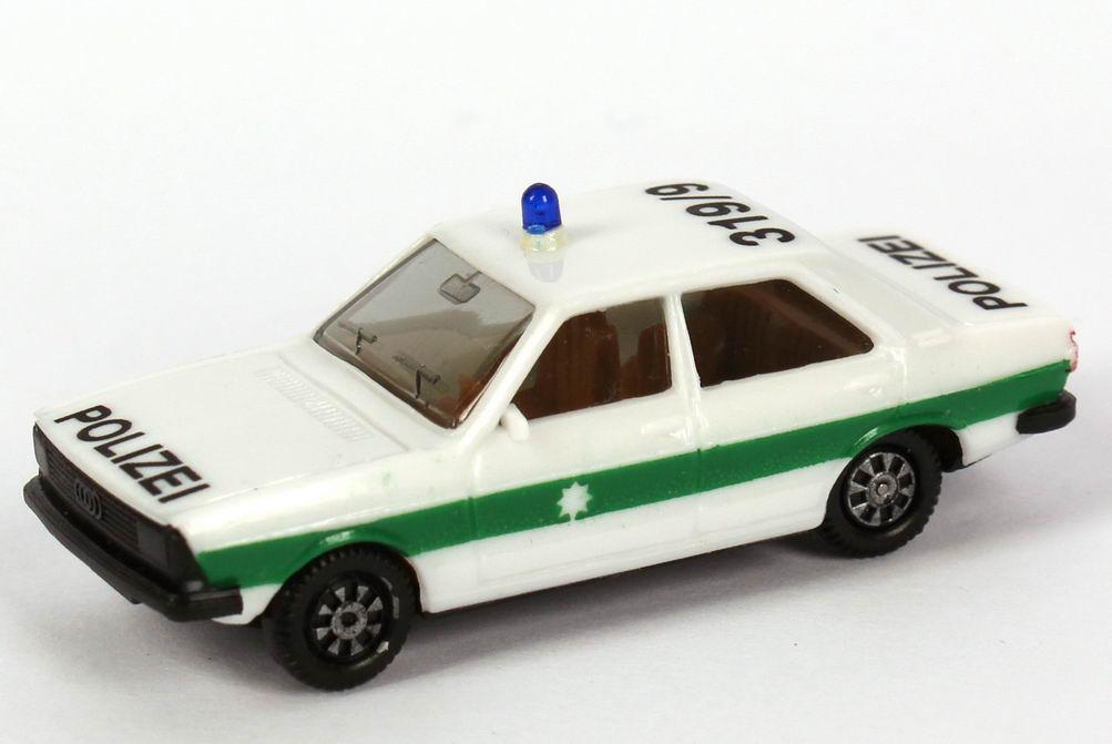 Foto 1:87 Audi 80 GTE Polizei bayrisch 319/9 (IA beige, Rückleuchten rot) herpa 4041