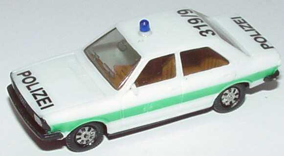Foto 1:87 Audi 80 GTE Polizei bayrisch 319/9 (IA beige, silberne Scheinwerfer) herpa 4041