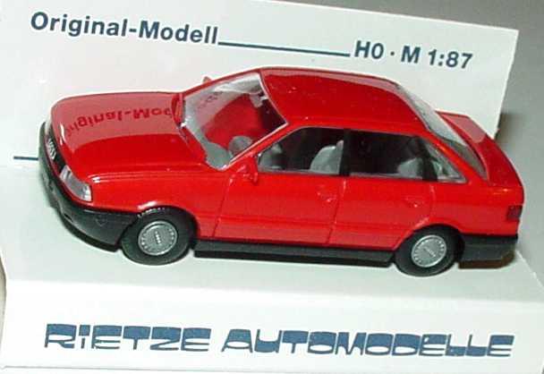 Foto 1:87 Audi 80 rot Rietze 10320