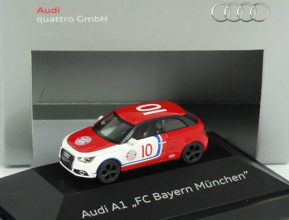 Foto 1:87 Audi A1 Studie F.C. Bayern München Werbemodell herpa 5051001012