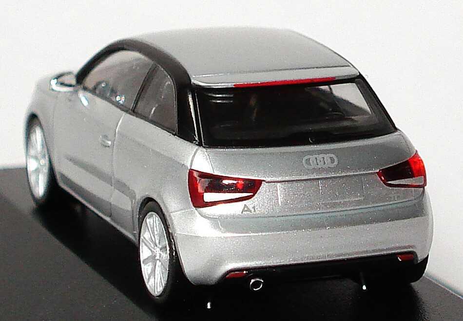Foto 1:87 Audi A1 8X eissilber-met. - Werbemodell - herpa 5011001012