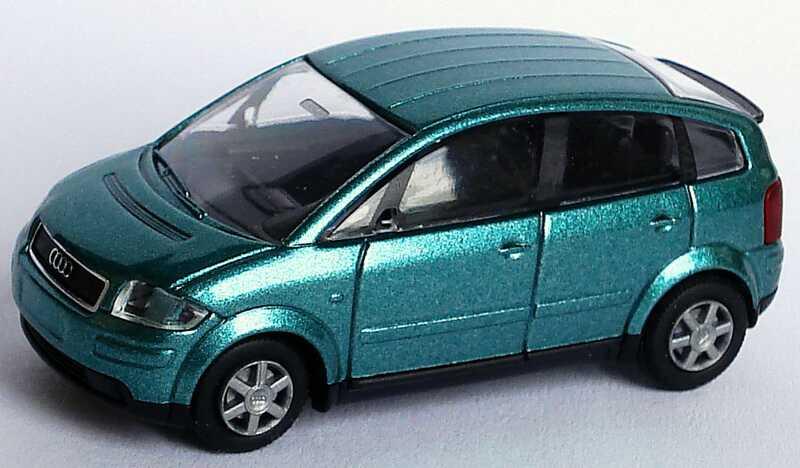 Foto 1:87 Audi A2 grün-met. Rietze 21000