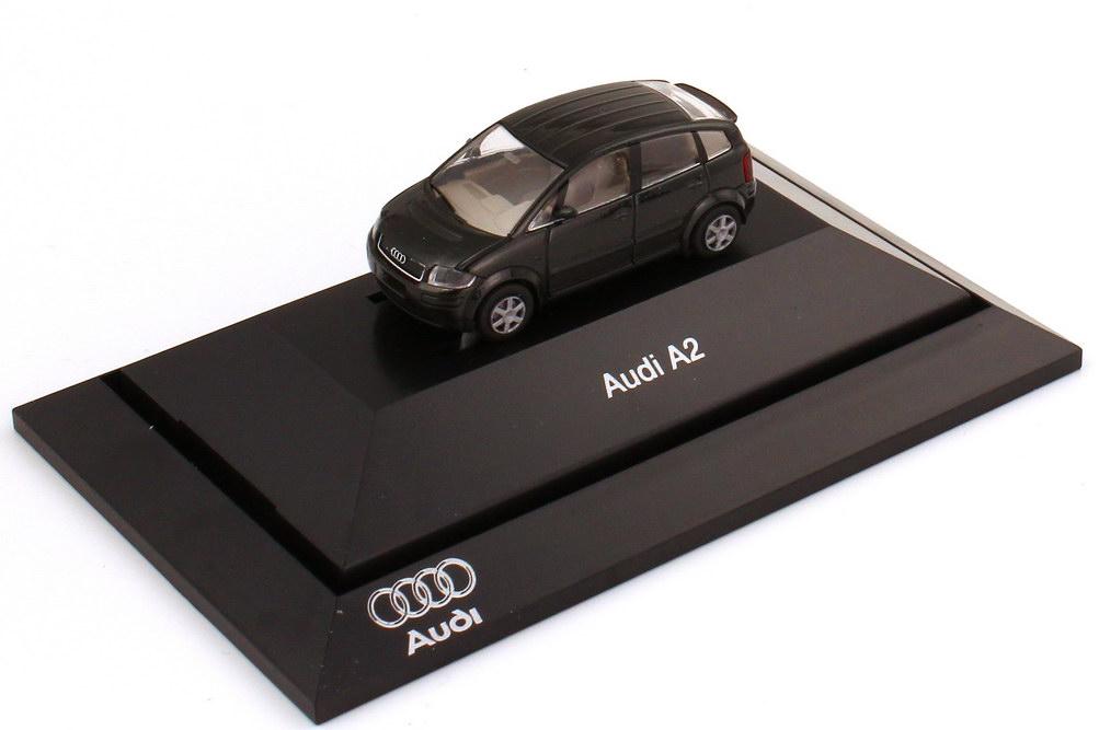 Foto 1:87 Audi A2 piniengrün-met. Werbemodell Rietze 5010002022