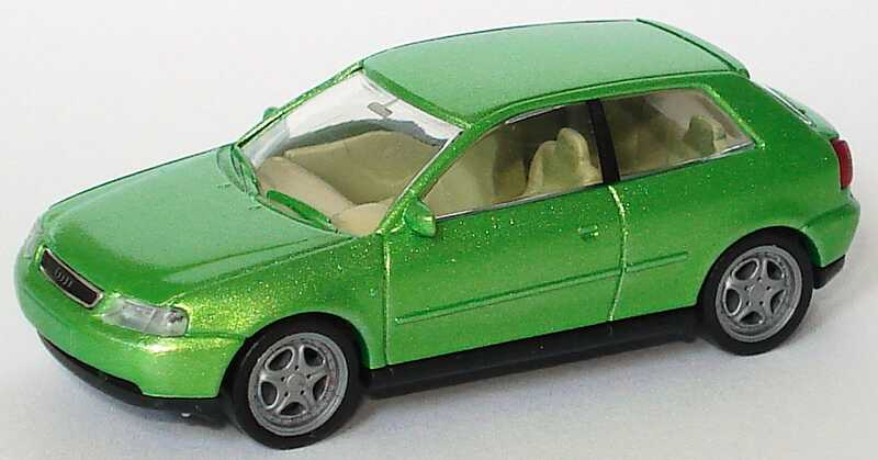 Foto 1:87 Audi A3 3türig viperngrün-met. (Fremdlackierung) Rietze 20780