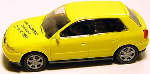 Foto 1:87 Audi A3 4türig gelb Inter-Modellbau Dortmund 1999 Rietze