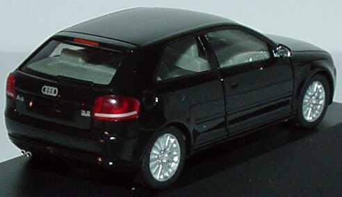 Foto 1:87 Audi A3 Facelift 2005 3türig phantomschwarz-met. Werbemodell herpa 5010503022