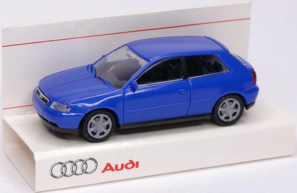 Foto 1:87 Audi A3 blau Werbemodell Rietze