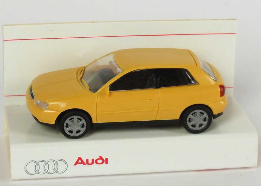Foto 1:87 Audi A3 kornblumegelb Werbemodell Rietze