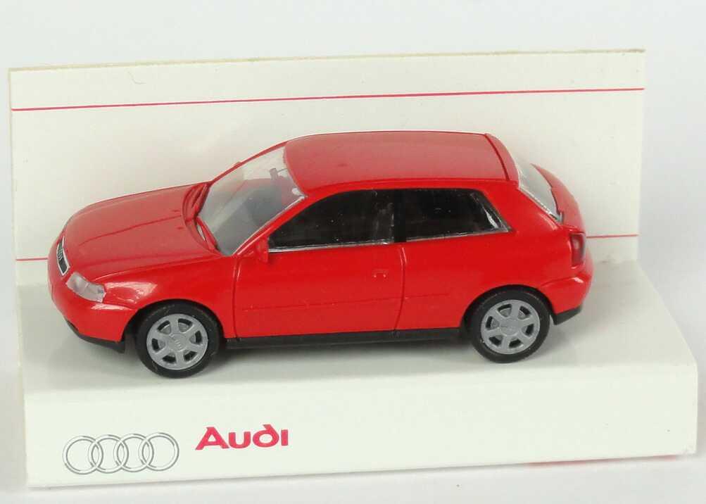 Foto 1:87 Audi A3 laserrot Werbemodell Rietze