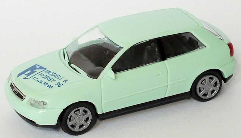 Foto 1:87 Audi A3 mintgrün Modell & Hobby ´96 Rietze