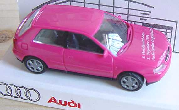 Foto 1:87 Audi A3 pink Audi Center Ingolstadt, 3. Sammlerbörse ´96 Rietze