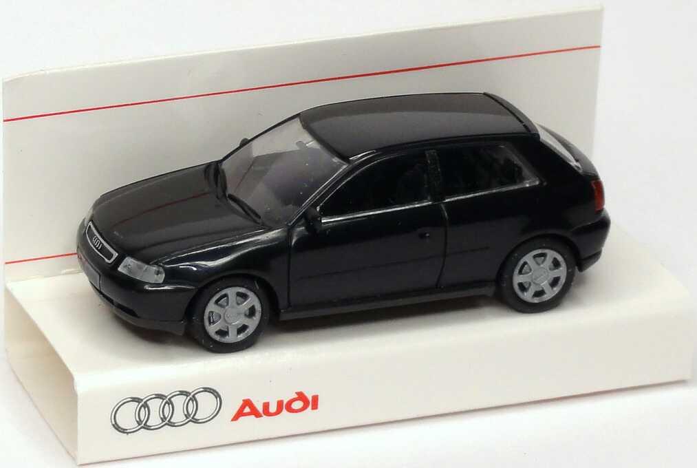 Foto 1:87 Audi A3 schwarz Werbemodell Rietze