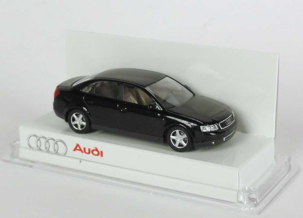 Foto 1:87 Audi A4 3.0 quattro (B6) ebonyschwarz-met. (kleine Verpackung)Werbemodell Busch 5010004142