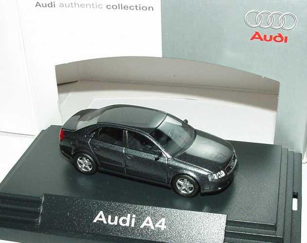 Foto 1:87 Audi A4 3.0 quattro (B6) delphingrau-met. Werbemodell Busch 5010004122