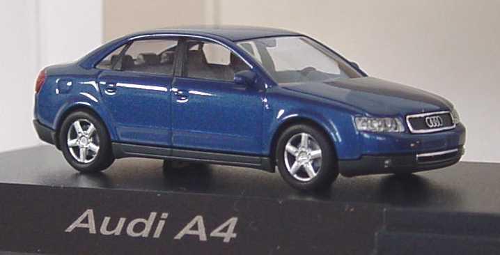 Foto 1:87 Audi A4 3.0 quattro (B6) denimblau Werbemodell Busch 5010004112