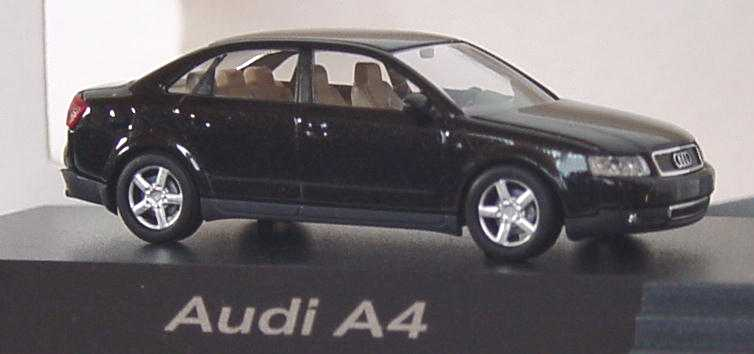 Foto 1:87 Audi A4 3.0 quattro (B6) ebonyschwarz-met. Werbemodell Busch 5010004142