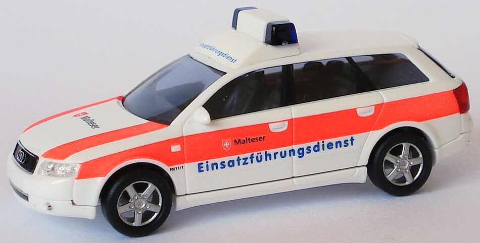 Foto 1:87 Audi A4 Avant 3.0 quattro (B6) ELW Malteser, Einsatzführungsdienst Busch 49263