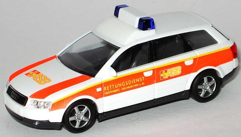 Foto 1:87 Audi A4 Avant 3.0 quattro (B6) NEF ASB Rettungsdienst Gräfenberg Neunkirchen a. Br. Busch 49260