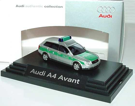 Foto 1:87 Audi A4 Avant 3.0 quattro (B6) Polizei Werbemodell Busch 5010000102