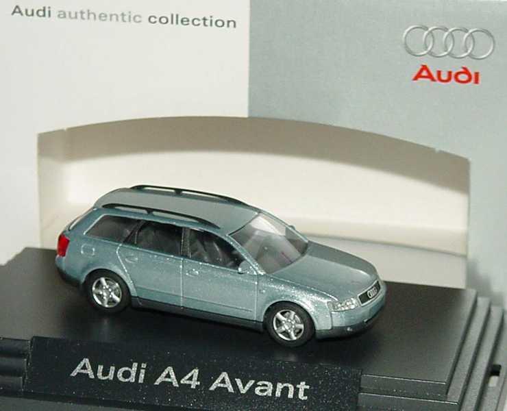 Foto 1:87 Audi A4 Avant 3.0 quattro (B6) crystallblau-met. Werbemodell Busch 5010104232