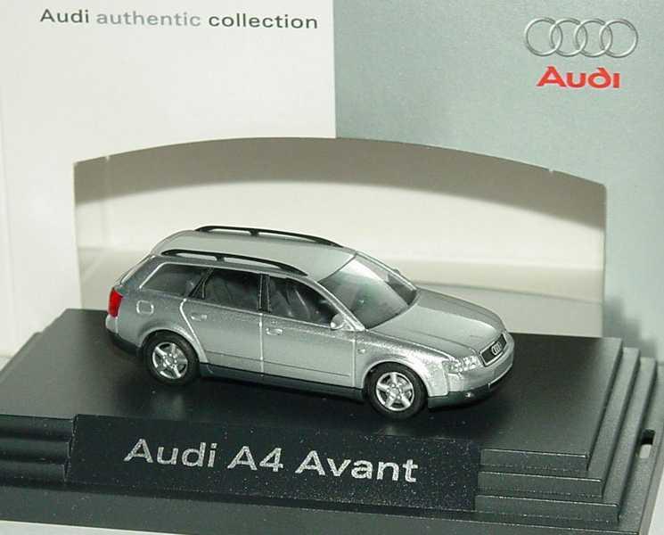 Foto 1:87 Audi A4 Avant 3.0 quattro (B6) silber-met. Werbemodell Busch 5010104212
