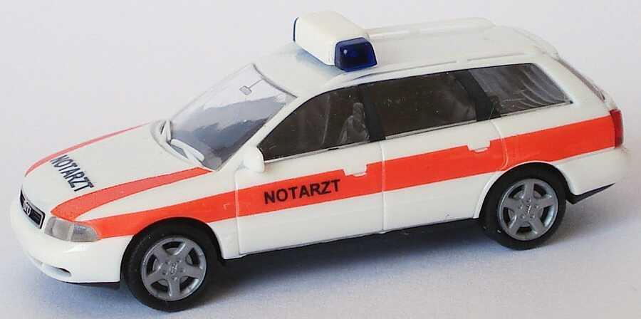 Foto 1:87 Audi A4 Avant (B5) NEF Notarzt weiß Rietze 50791