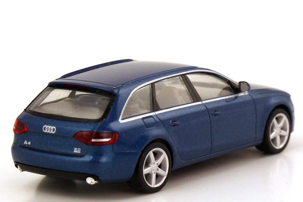 Foto 1:87 Audi A4 Avant (Typ B8) arubablau-met. herpa 501.08.042.22