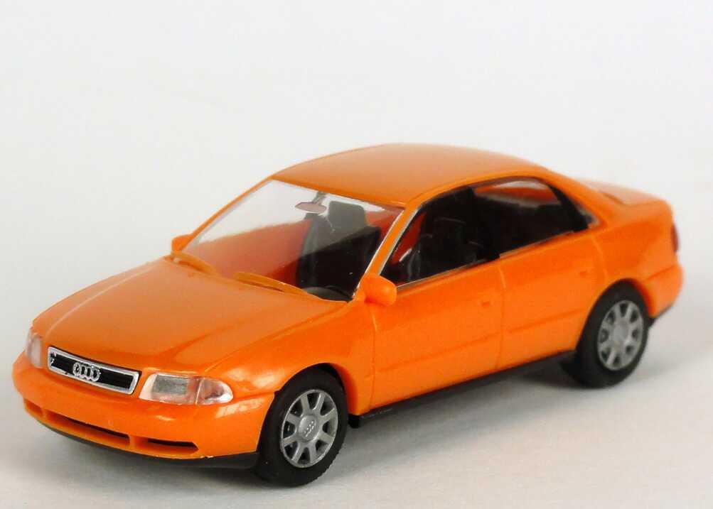 Foto 1:87 Audi A4 (B5) orange Werbemodell  Verpackungsaufdruck Vorsprung durch Technik Rietze